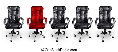 Office Chairs in Black and Red, Stand out Concept