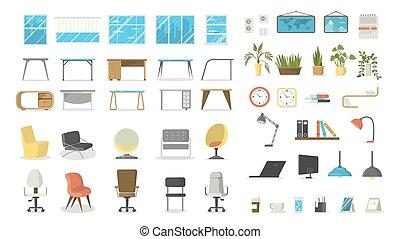 Office furniture set.