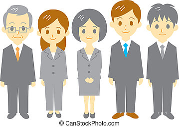 office workers, vector file