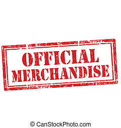 Grunge rubber stamp with text Official Merchandise, vector illustration