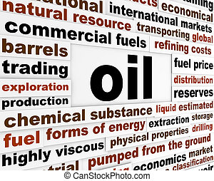 Oil commercial fuel poster