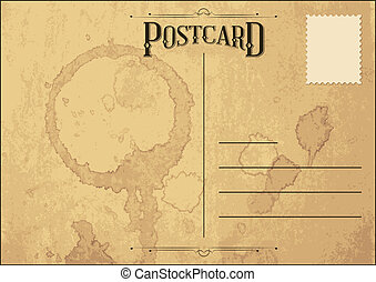Old Grunge Postcard