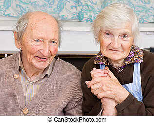 Old happy people