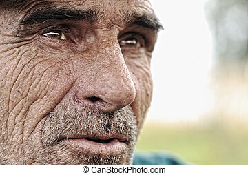 Old man with moustaches