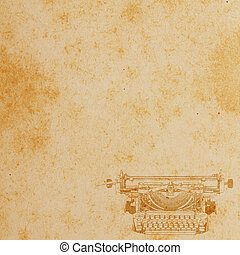 Old paper with Typewriter Pattern. Vintage background.