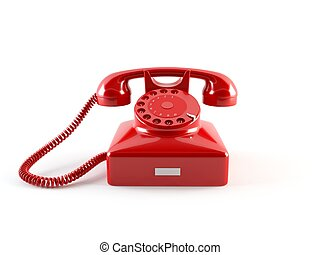 3D rendering of a classic vintage phone
