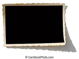Blank photo. Put your image inside black area.