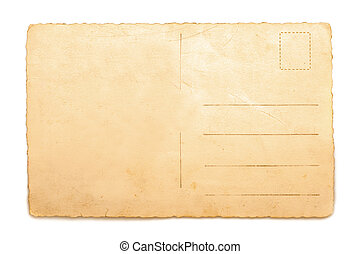 Old Postcard isolated on white