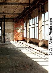 Old unfinished building interior