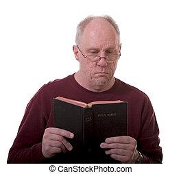 Older Man Reading Bible