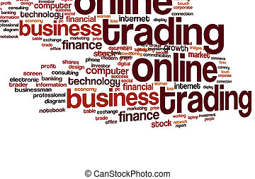 Online trading word cloud