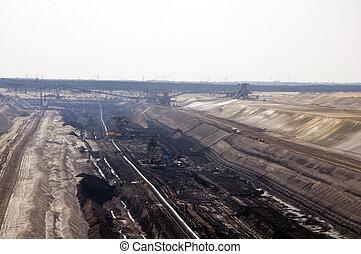 Open pit coal mine in Jaenschwalde