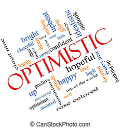 Optimistic Word Cloud Concept Angled