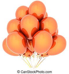 Orange helium balloons (Hi-Res)