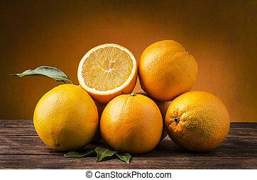 oranges of Sicily still life