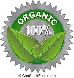 organic product label