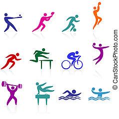 Original vector illustration: sports icon collection