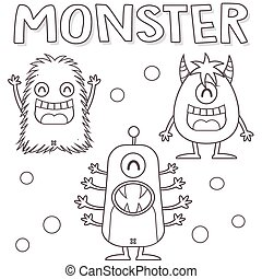 Outlined monsters