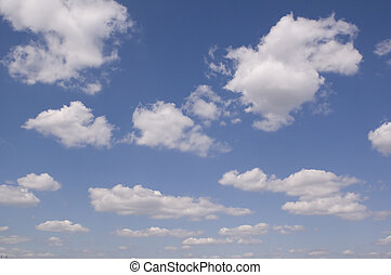 leaden clouds. grey clouds and blue sky