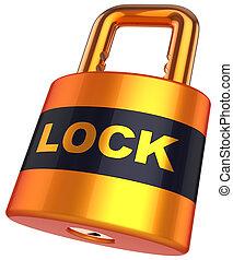 Padlock. Security concept (Hi-Res)