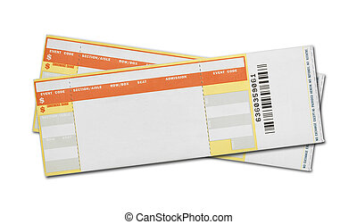 Blank Concert Tickets