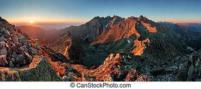 Panorama mountain autumn landscape