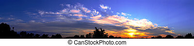 Panorama sky sunrise dawn