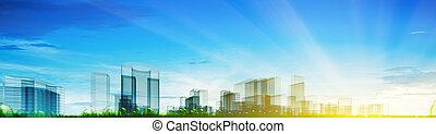 Panoramic city concept