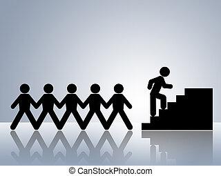 climbing stairs job promotion