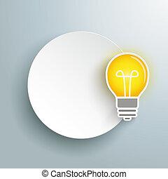 Paper Circle Idea Bulb Gray