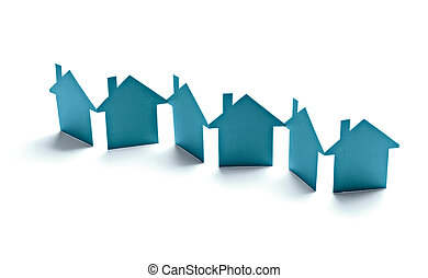 paper house home real estate building