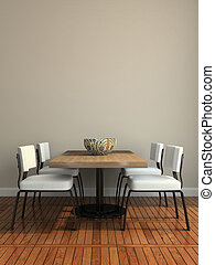 Part of the modern dining-room illustration