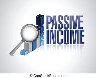 passive income business sign illustration design over a white background
