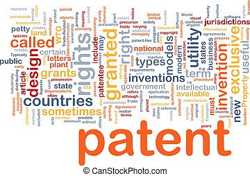 Patent is bone background concept