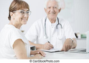 Patient during periodic medical examination