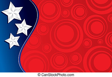 Patriotic Background, perfect for an invitation or card!