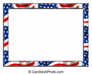 red white and blue patriotic beveled frame