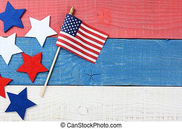 Patriotic Table Still life