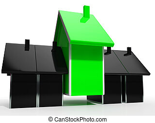 Pay Off Mortgage Icon Showing Housing Loan Payback Complete - 3d Illustration