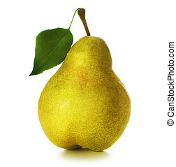 Pear over white