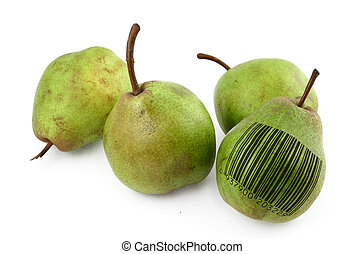 pears with bar code of non-existing product