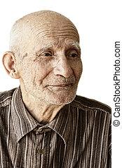 Pensive senior man
