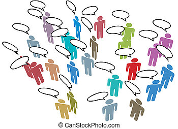 People Meeting Social Media Network Colorful Speech