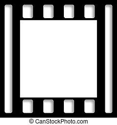 Perforated Black Still Film Border