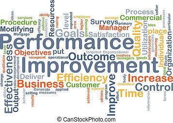 Performance improvement background concept