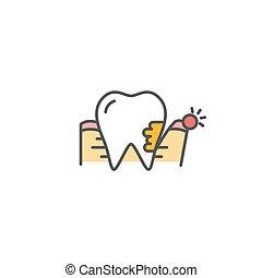 Periodontitis vector icon