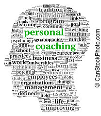 Personal coaching in tag cloud