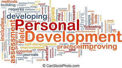 Background concept wordcloud illustration of personal development