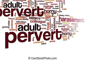 Pervert word cloud