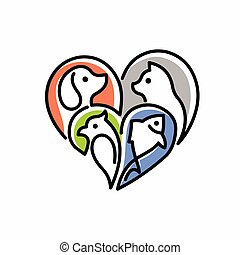 pet love logo design template